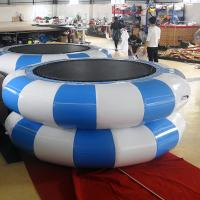 Cheap Green And Yellow Inflatable Jumpers /Inflatable TrampolineFor Children Or Adults for sale