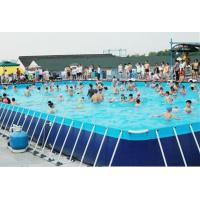 China Hotsale 0.9MM PVC Outdoor Giant Above Ground Rectangle Water Park Type Metal Frame Swimming Pool For Sale on sale