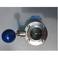 Cheap Stainless Steel Manual Welded/Threaded Butterfly Valve (ACE-DF-4D) for sale