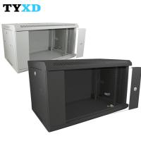 China 6U 9U Network Rack Cabinet Wall Mounted With Lockable Glass Front Door on sale