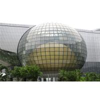 Cheap 3mm - 19mm Curved Tempered Glass Sheets , Spherical Float Glass for sale