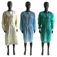 Cheap Soft Disposable Isolation Gown , Disposable Ppe Gowns Elastic Cuffs OEM Service for sale
