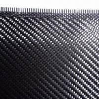 China Twill Carbon Fiber Fabric with 100 to 1,800mm Width on sale