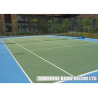 Cheap Red Plastic Waterproof Tennis Court Flooring , Environmentally Friendly Flooring for Sport Court for sale
