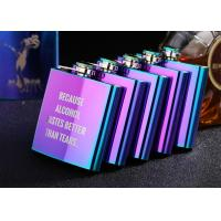 China Colorful Stainless Steel Wine Bottle Womens Hip Flask Western Style on sale