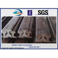 Cheap Customized Railroad Steel Crane Rail , American / BS / UIC860 / UIC50 Standard for sale