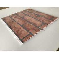 Cheap Brick Decorative Plastic Wall Panels Hot Stamping X Hollow Core Structure for sale