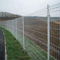 Cheap 200*50mm Dark Green PVC Coated 3D Curved Wire Mesh Fence for Farm for sale