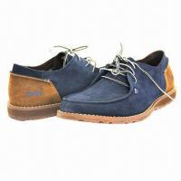 Cheap Men's Leisure Casual Shoes with Suede Upper, Lace-up Closure, High Quality for sale