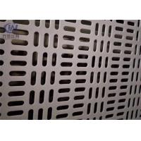 China Slotted Hole Perforated Aluminum Sheet Metal Anodized Decorative 1.22x2.44m Panel Size on sale