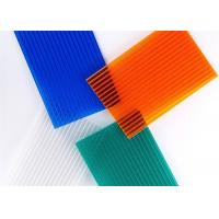 Cheap Cellular Polycarbonate Hollow Sheets for Awning / Greenhouse with Ten Year Warranty for sale
