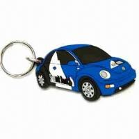 Cheap Car Shape Keychain, Made of Soft PVC, Customized Designs are Welcome, Measures 40 x 30 x 35cm for sale
