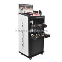 Cheap Custom Floor Standing Cosmetic Display Stand Movable For Point Of Sale Retail for sale