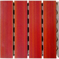 China Auditorium Wooden Grooved Acoustic Panel For Home , Architectural Design on sale