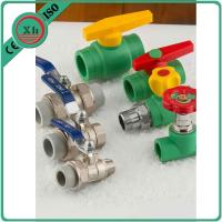 China Size 20 - 32 Mm PPR Ball Valve , Pn25 Female Thread Brass Ball Valve With Union on sale