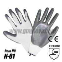 Cheap Nitrile Coated Nylon Gloves,Palm Coating for sale