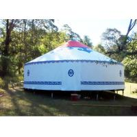 Cheap Traditional Mongolian Canvas Yurt Tent , Easy To Assemble Mongolian Style Tents wholesale