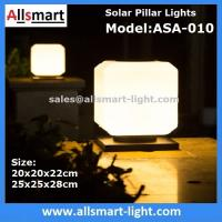 Buy cheap Squared Virginal Lily White Solar Pillar Lights Solar Chapiter Lamp Column Fence Lights China Factory Exporter from wholesalers