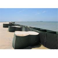 Cheap HESCO Flood Barrier / Defensive Barrier With Green Color Geotextile Fabric For Sale for sale