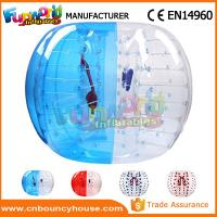 Cheap Transparent Inflatable Bubble Ball / Inflatable Zorb Ball Large Hot Air Welded for sale