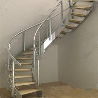Cheap Modern Luxury  Steel Curved Structure Staircase for sale