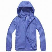 Cheap Men's Windbreaker Jacket with Breathable Feature for sale