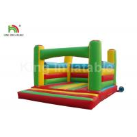 China Colorful 6 * 4m PVC Material Inflatable Jumping Castle With Blower For Rent on sale