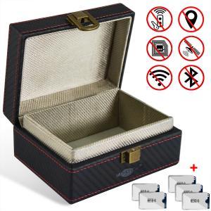 China Small Faraday Key Box For Keyless Entry System , Car Keys RFID Blocking Key Box on sale