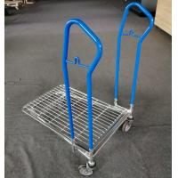 China Four Wheel Custom Display Racks Platform Hand Trolley With Different Size on sale