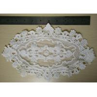 Quality Big Size White Lace Trims / Flower Water Soluble Lace Eco - Friendly wholesale