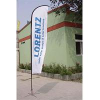 Cheap Double / Single Side Printing Outdoor Advertising Sail Banners 100% 110g Polyester wholesale