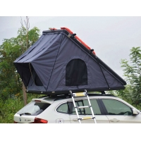 Cheap Family Camping SUV Hard Shell 125cm 4x4 Roof Top Tent with Telescopic Ladder for sale