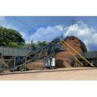 China Microcomputer Control Mobile Concrete Batching Plant Customized Color on sale