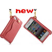 Cheap the lastest  wallet pu leather  case cover with lanyard  for iphone 5s, iphone 4s for sale