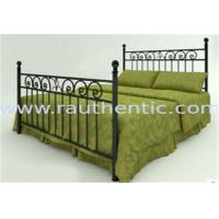 Quality Classic Metal Slat Metal Full Size Bed , Iron Pipe Double Metal Bar Beds wholesale
