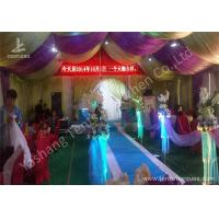 Cheap Hard Aluminum Skeleton Wedding Reception Tents Purple And White Lining Designed for sale