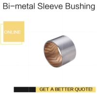China Bimetal Lead-Free Plain Thin Walled bearing Imperial & Metric Sizes Bush With Grooves on sale