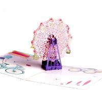 China A5 Artpaper Audio Birthday Cards 3D Greeting Cards With LED Light on sale
