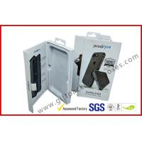 China Phone case packing box with hanger / magnet electronics packaging box with ribbon on sale