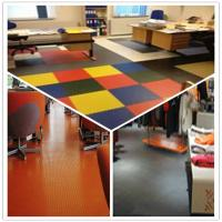 Cheap 3W Anti Slip Indoor Office Interlocking Removable Plastic PVC Floorommg Tiles for sale