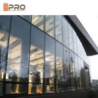 Cheap Tempered Glass Aluminium Curtain Wall With Logo And Pattern Printed for sale