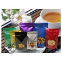 Laminated Stand Up Coffee Packaging Bags / Aluminium Foil Zipper Pouches Color Printed
