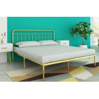 Cheap Metal Platform Bed Frame /Bed, modern style iron bed with Headboard for sale