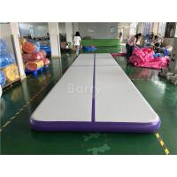 Cheap Commercial Inflatable Air Track / Purple Air Jump Tumble Trak For Gymnastics Sport for sale