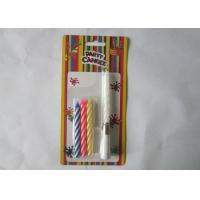Cheap Votive Singing Song Swirl Birthday Candles 4 Pcs / 9.3G No Wax Dripping for sale
