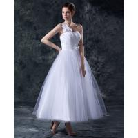 Cheap Elegant Heart Shaped tea length wedding dresses gowns in S M L XL XXL size for sale