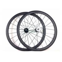 Cheap Tubular Clincher Carbon Cycling Wheels T700 , Carbon 38mm Fixed Rear Wheel 700c  for sale