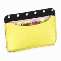 Cheap Card Holder, Made of Genuine Leather, Measures 11 x 7.5cm, Various Colors are Available for sale