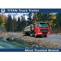 Cheap 10 - 60 Tons payload logging trailer vehicles For Carry timber trailer , hoses for sale