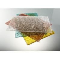 Cheap Good Strength Diamond Clear Polycarbonate Sheet / Uv Polycarbonate Panels Color Stable for sale